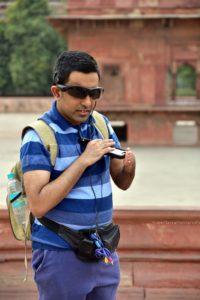 A blind photographer