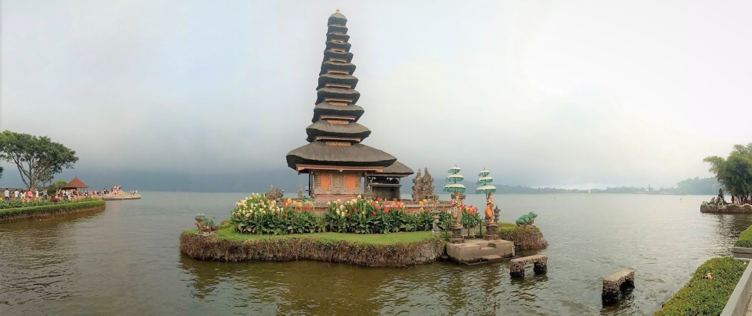 Serene temple in the middle of a lake, North Bali