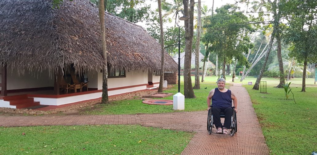 Paul enjoying some quiet time in a quaint Kerala beachside