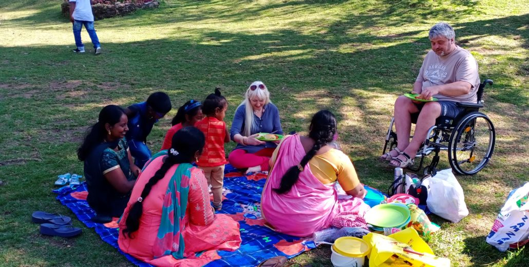 Group picnic at Kodaikanal